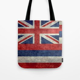 The State flag of Hawaii - Vintage version Tote Bag