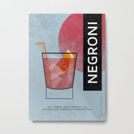 NEGRONI COCKTAIL Metal Print