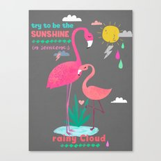 Try to be the Sunshine Canvas Print