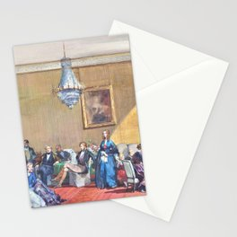 Eugene Louis Lami - The Orleans royal family in exile at Claremont House - Digital Remastered Edition Stationery Cards