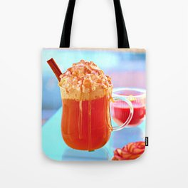 Caramel Apple Cider with Whipped Cream Tote Bag