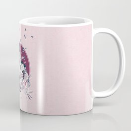 Vulture and Floral Coffee Mug