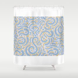 Modern Vibrant Abstract Paisley Shower Curtain