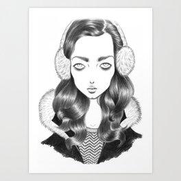 Girl portrait Art Print