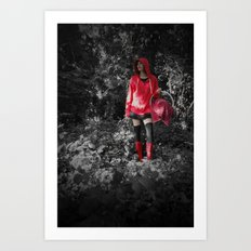 red riding hoodie Art Print