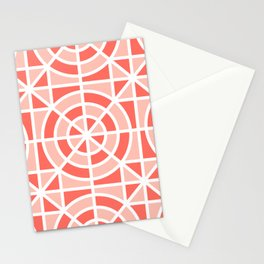 Coral Mosaic Stationery Cards