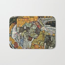 Egon Schiele - Crescent Of Houses .Island Town Bath Mat