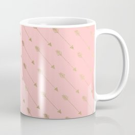 Bohemian elegant faux gold coral modern arrow pattern Coffee Mug