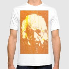 Albert Einstein SMALL Mens Fitted Tee White