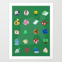 Animal Crossing: Your Pockets Are Full Art Print