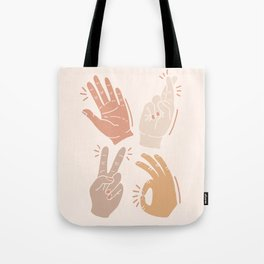 I Don't Know What to Do With My Hands Tote Bag