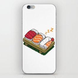 Sushi sleeping iPhone Skin