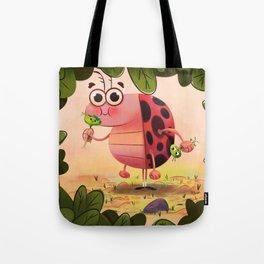 Hungry ladybird Tote Bag