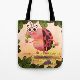 Hungry ladybird Tote Bag
