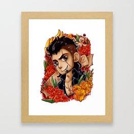 Gladio in Orange Framed Art Print