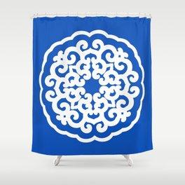 Sapphire Asian Moods Mandalla Shower Curtain
