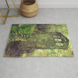 Ruins in the forest Rug