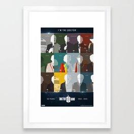 Doctor Who 50th Anniversary Poster Set Framed Art Print