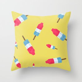 Popsicles - Retro Pattern  Throw Pillow