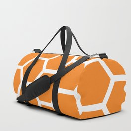 Orange Honeycomb Duffle Bag