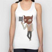 mr fox Tank Tops featuring Mr. Fox by black lab studio