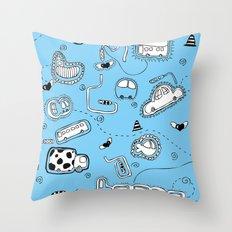 Vehicle Doodle (: Throw Pillow