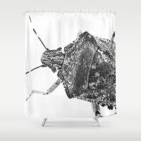 beetle Shower Curtains featuring beetle by Falko Follert Art-FF77