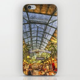 The Apple Market Covent Garden London Oil iPhone Skin