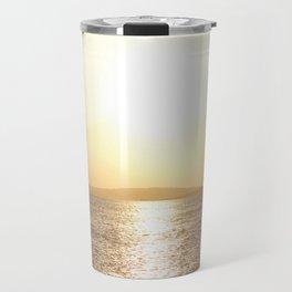 Sunset over Western Harbour Leith Edinburgh Travel Mug
