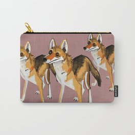 Senegalese Wolf in Pink Carry-All Pouch