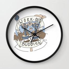 Work Out Buddies Wall Clock