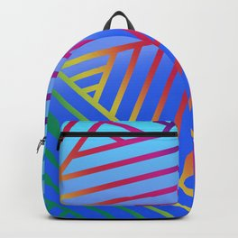 Rainbow Ombre Pattern with Blue Background Backpack