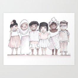 quinnslion love print Art Print