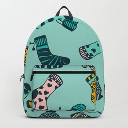 Socks and Mittens Pattern Backpack