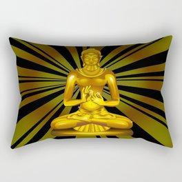 Buddha Siddhartha Gautama Golden Statue Rectangular Pillow