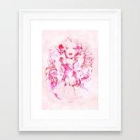 marylin monroe Framed Art Prints featuring Marylin Monroe by FlowerMoon Studio