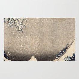 Hokusai the wave 1-hokusai,manga,fugi,japan,kanagawa,wave,edo,mount fuji Rug