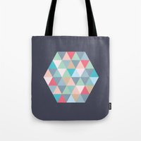 hexagon Tote Bags featuring hexagon by vicenza