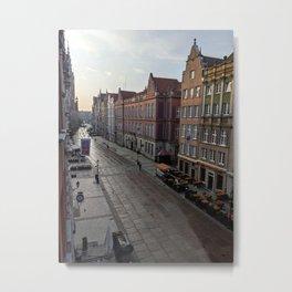 Gdansk at Sunrise Metal Print