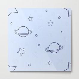 Simple space pattern Metal Print