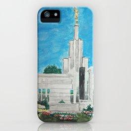 The Hague Netherlands LDS Temple iPhone Case
