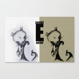 Easter ZombiE Canvas Print