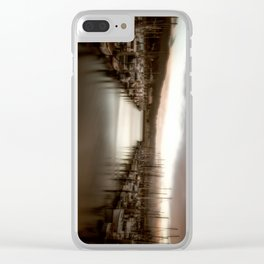 Unbalanced Half Moon Bay California Clear iPhone Case