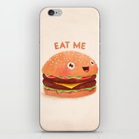 burger iPhone & iPod Skins featuring Burger by Lime