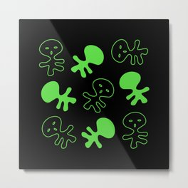 Aliens-Green Metal Print