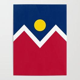 Denver, Colorado city flag - Authentic High Quality Poster