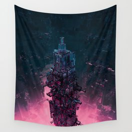 The Technocore / 3D render of futuristic structure Wall Tapestry