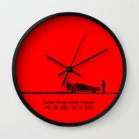 delorean Wall Clocks featuring DeLorean by Tony Vazquez