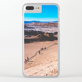 Valle de la Luna (Moon Valley) in San Pedro de Atacama, Chile 3 Clear iPhone Case
