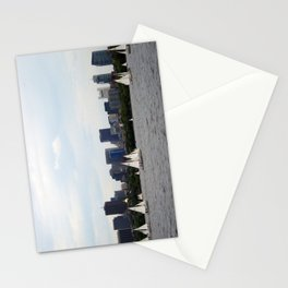 Boston skyline Stationery Cards